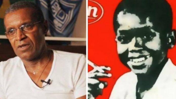 #Pracegover Na foto à esquerda, Paulo em uma entrevista já na fase adulta; à direita na famosa foto com o cigarrinho de chocolate