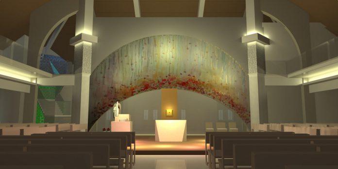 #Pracegover Foto: na imagem há um santuário