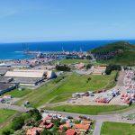 #Pracegover Na foto, vista aérea do porto de Imbituba