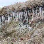 #Pracegover Na foto, paisagem serrana congelada