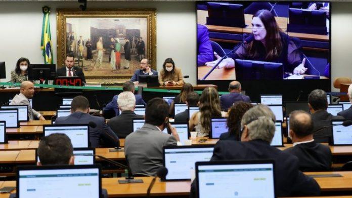 #Pracegover Na foto, deputados federais em uma sala de comissões no Congresso