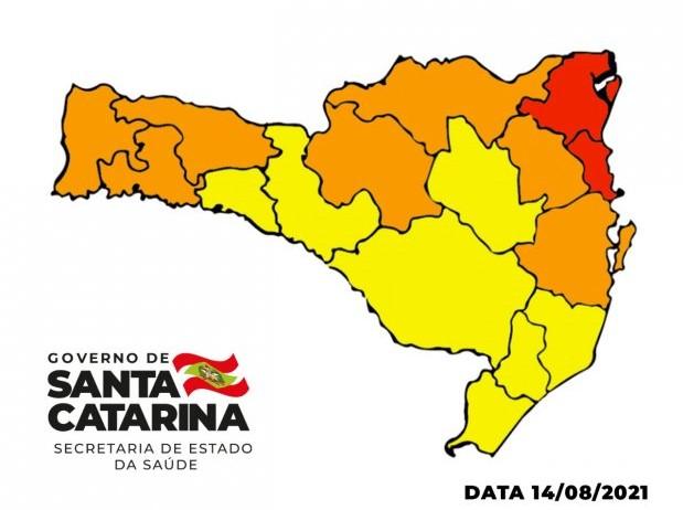 Matriz de Risco Covid-19 aponta que Amurel foi classificada com Nível Alto (amarelo)