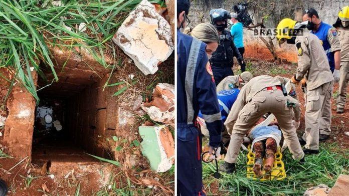 Paraná Bandidos agridem mulher por engano e a jogam em buraco com 3 metros de profundidade