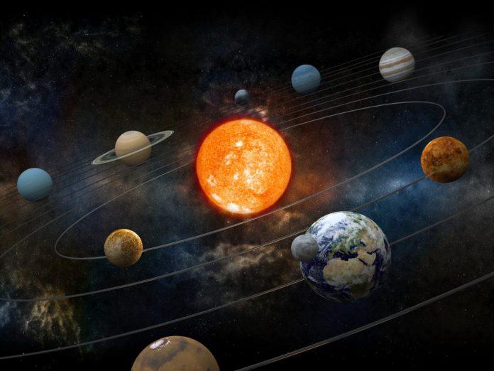 #Pracegover foto: na imagem há diversos planetas